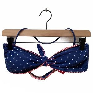 NWT Xhilaration Stars & Stripes Bandeau Bikini Top